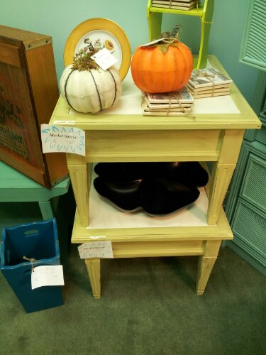 Inlet Queens Market special end tables -- break the boring beige!